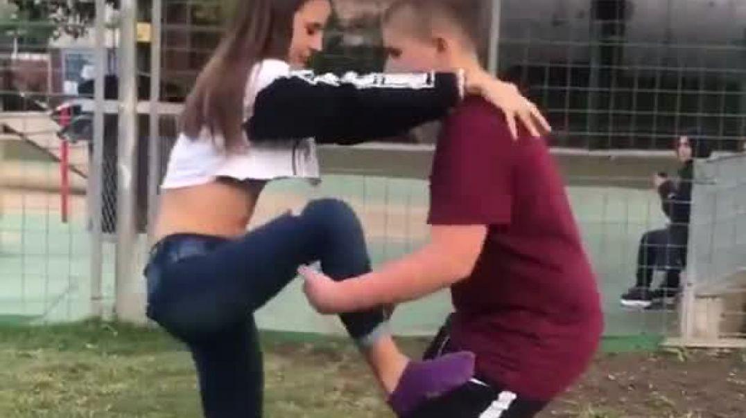 Неудачный трюк девушки